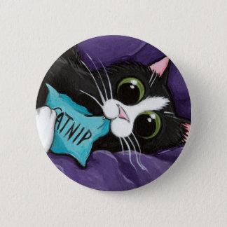 Catnip Addict - Cat Art Button