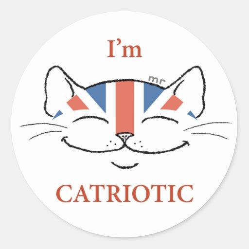 Catriotic Cat Sticker