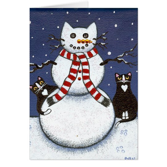 Cats & A Snowcat Greeting Cards
