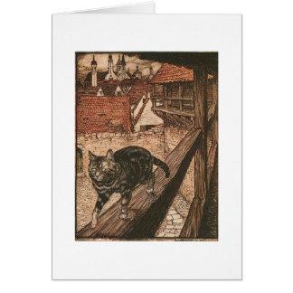 Cat's Adventure (Blank Inside) Card