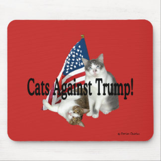 """Cats Against Trump"" Mousepad"