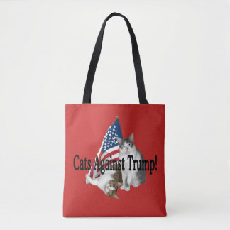 """Cats Against Trump"" Tote"