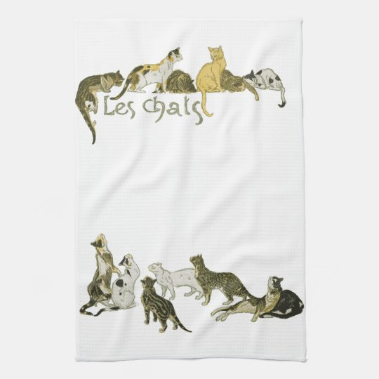 Cats, Alexandre Steinlen Kitchen Towel