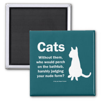 Cats and bathtubs magnet