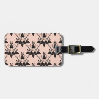Cats and Catnip Damask Look Pattern Luggage Tag