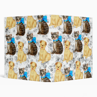 cats and dogs 3 ring binder