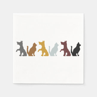Cats and Dogs cartoon pattern Paper Napkins