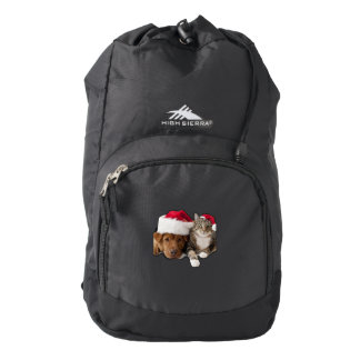 Cats and dogs - Christmas cat - christmas dog Backpack
