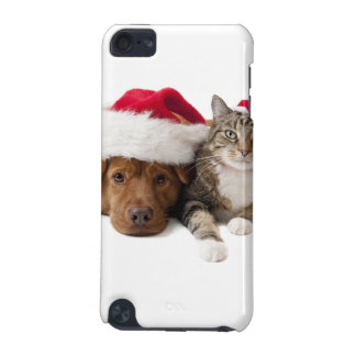 Cats and dogs - Christmas cat - christmas dog iPod Touch 5G Case