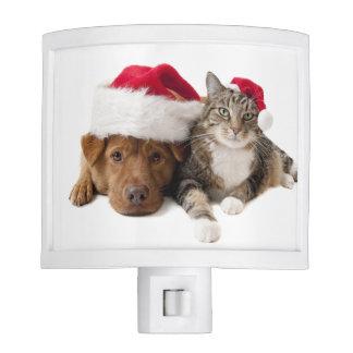 Cats and dogs - Christmas cat - christmas dog Nite Light