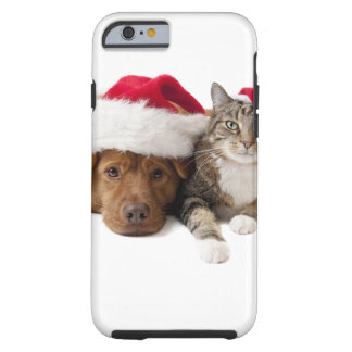 Cats and dogs - Christmas cat - christmas dog Tough iPhone 6 Case
