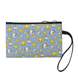 Cats and Dogs Emoji Pattern Coin Purse