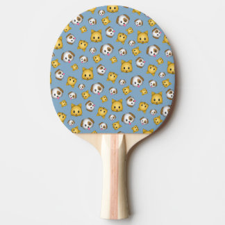 Cats and Dogs Emoji Pattern Ping Pong Paddle