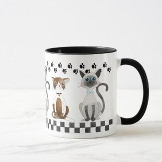 Cats and Paw Prints Mug