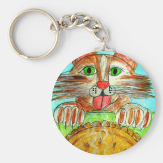Cats and Pie Keychain