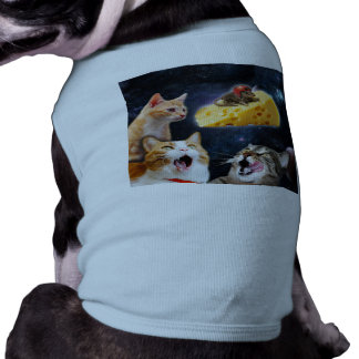 Cats and the mouse on the cheese pet clothing