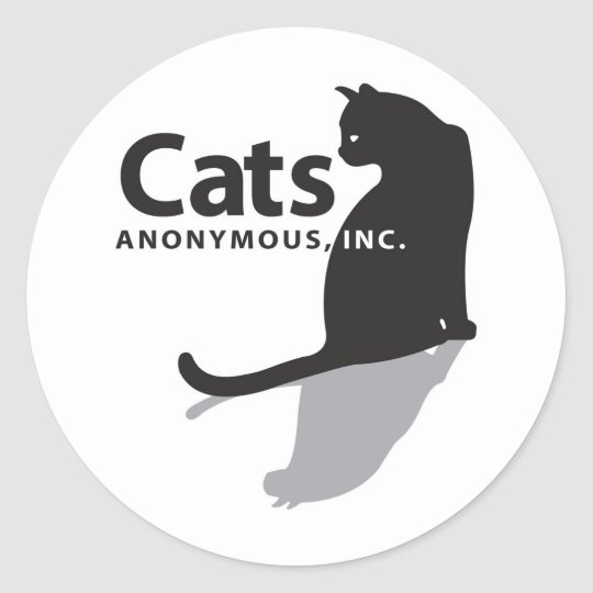 Cats Anonymous Logo Merchandise Classic Round Sticker