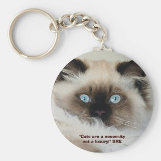 """CATS ARE A NECESSITY..."" Key-chain Keychain"