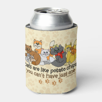 Cats are like potato chips can cooler