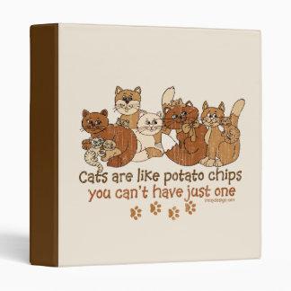 Cats are like potato chips vinyl binders