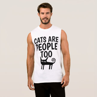 CATS ARE PEOPLE TOO, Funny Cat T-shirts