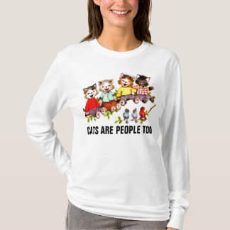 CATS ARE PEOPLE TOO, funny Cute Cat T-shirts