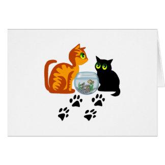 Cats At Play Card