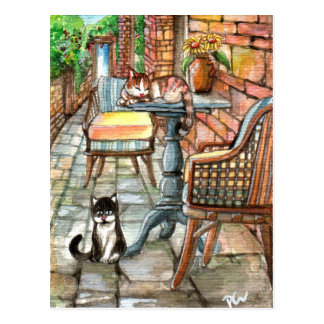 Cats at the Back Alley Postcard