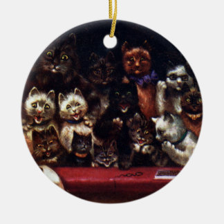 Cats at the Theater for Christmas Louis Wain Christmas Tree Ornament