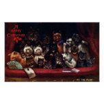 Cats at the Theatre for Christmas Louis Wain Posters