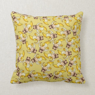 Cats banana throw pillow
