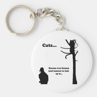 Cats...Because even Firemen Keychain