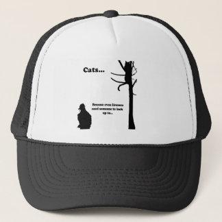 Cats...Because even Firemen Trucker Hat