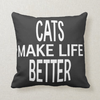 Cats Better Pillow - Assorted Styles & Colors