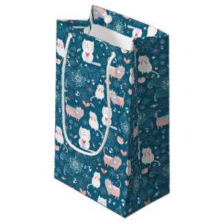 Cats, Birds & Hearts Gift Bags