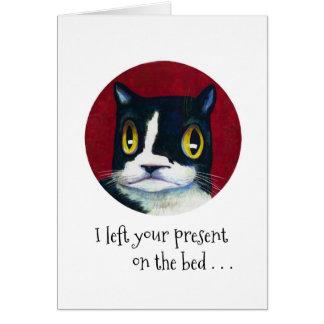 Cat's Birthday SURPRISE! Card