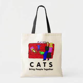 Cats Bring People Together Tote Bag