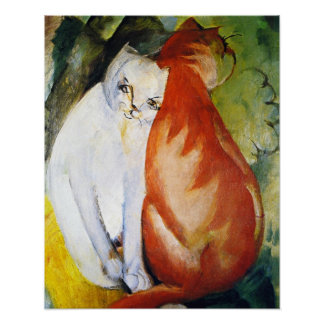 Cats by Franz Marc Poster