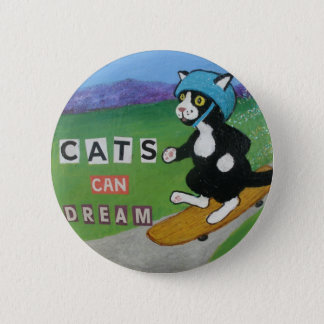 Cats Can Dream 2 Inch Round Button
