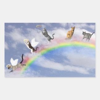 Cats Catching Halos Sticker
