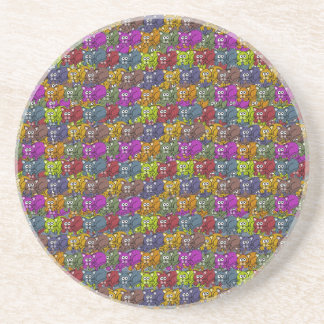Cats cats and more cats cartoon pattern coasters