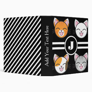 Cats, Cats & Cats 3 Ring Binder