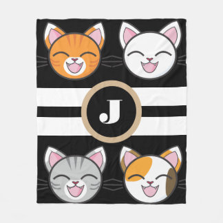 Cats, Cats & Cats Fleece Blanket