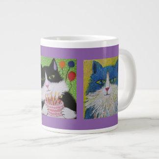 Cats cats cats large coffee mug