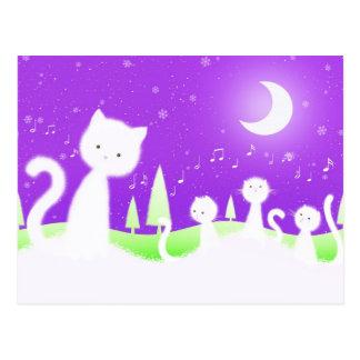 Cats choir postcard