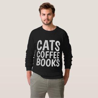 CATS COFFEE BOOKS funny T-shirts & sweatshirts