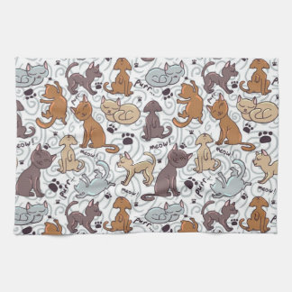 Cats Daily Life Kitchen Towel