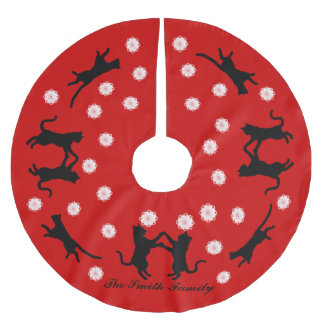Cats Dancing Brushed Polyester Tree Skirt