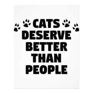 Cats Deserve Better Letterhead