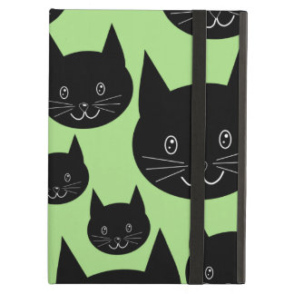 Cats Design in Black and Green. Case For iPad Air